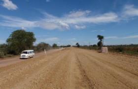 Upgrading road at Senwabarwana